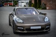 Porsche Panamera helfoliert med Matt Frozen Bronze fra Platinum Wrapping Film (4 из 20)