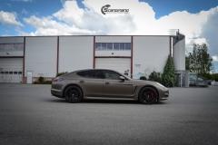 Porsche Panamera helfoliert med Matt Frozen Bronze fra Platinum Wrapping Film (5 из 20)