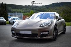 Porsche Panamera helfoliert med Matt Frozen Bronze fra Platinum Wrapping Film (8`1 из 20)