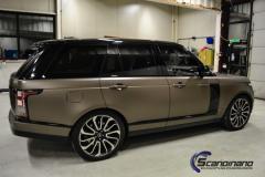Range Rover foliert med matt frozen bronze fra pwf