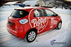 Renault Zoe Helfoliert i rød med Peppes Pizza dekor (3 of 9)