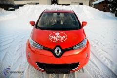 Renault Zoe Helfoliert i rød med Peppes Pizza dekor (4 of 9)