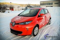 Renault Zoe Helfoliert i rød med Peppes Pizza dekor (6 of 9)