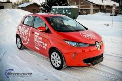 Renault Zoe Helfoliert i rød med Peppes Pizza dekor (7 of 9)