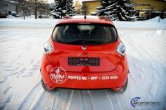 Renault Zoe Helfoliert i rød med Peppes Pizza dekor (8 of 9)