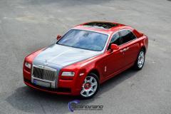 Rolls Royce foliert med red