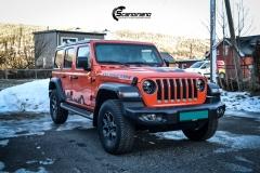Sort matt klistremerker til Jeep® Wrangler RSA BIL Drammen