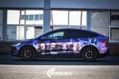 Tesla Model X custom design Chrome print_