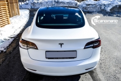 Tesla Model 3 foliert med lakkbeskyttelsesfilm-10