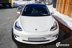 Tesla Model 3 foliert med lakkbeskyttelsesfilm-3