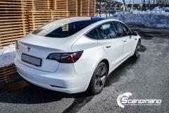 Tesla Model 3 foliert med lakkbeskyttelsesfilm-4