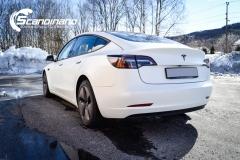 Tesla Model 3 foliert med lakkbeskyttelsesfilm-7