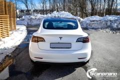 Tesla Model 3 foliert med lakkbeskyttelsesfilm-9