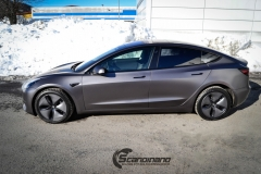 Tesla Model 3 foliert med Satin Dark Grey fra 3M_-10
