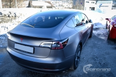Tesla Model 3 foliert med Satin Dark Grey fra 3M_-12