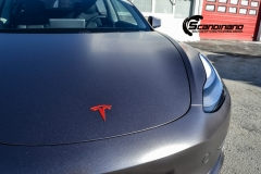 Tesla Model 3 foliert med Satin Dark Grey fra 3M_-6