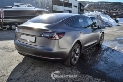 Tesla Model 3 foliert med Satin Dark Grey fra 3M_-8