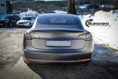 Tesla Model 3 foliert med Satin Dark Grey fra 3M_-9