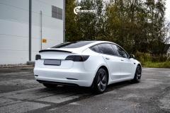 Tesla Model 3 helfoliert i Matt lakkbeskyttelsesfilm fra STEK (5 из 15)