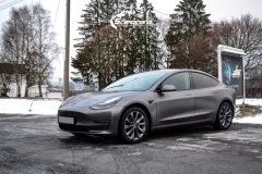 Tesla Model 3 Helfoliert i Satin Dark Grey fra 3M