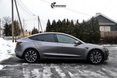 Tesla Model 3 Helfoliert i Satin Dark Grey fra 3M-4