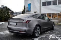 Tesla Model 3 Helfoliert i Satin Dark Grey fra 3M-5