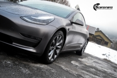 Tesla Model 3 Helfoliert i Satin Dark Grey fra 3M-8
