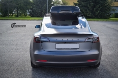Tesla Model 3 helfoliert i Satin Dark Grey fra 3M-11