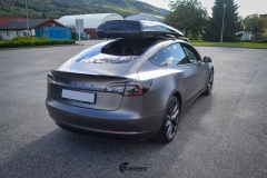 Tesla Model 3 helfoliert i Satin Dark Grey fra 3M-12