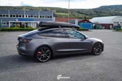 Tesla Model 3 helfoliert i Satin Dark Grey fra 3M-13