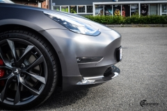 Tesla Model 3 helfoliert i Satin Dark Grey fra 3M-14