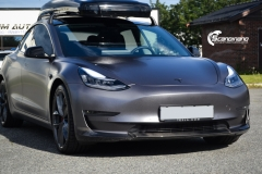 Tesla Model 3 helfoliert i Satin Dark Grey fra 3M-6