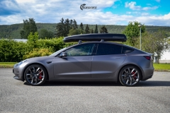 Tesla Model 3 helfoliert i Satin Dark Grey fra 3M-8