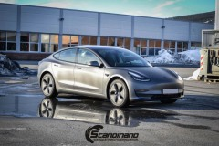 Tesla model 3 helfoliert med 3M Matt Dark Grey