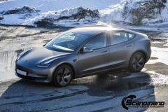 Tesla model 3 helfoliert med 3M Matt Dark Grey_-10