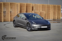 Tesla model 3 helfoliert med 3M Matt Dark Grey_-11