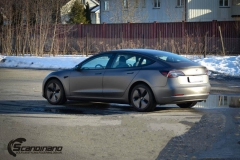 Tesla model 3 helfoliert med 3M Matt Dark Grey_-12