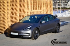 Tesla model 3 helfoliert med 3M Matt Dark Grey_-14