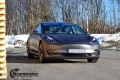 Tesla model 3 helfoliert med 3M Matt Dark Grey_-15