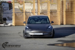 Tesla model 3 helfoliert med 3M Matt Dark Grey_-16