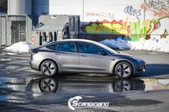 Tesla model 3 helfoliert med 3M Matt Dark Grey_-3