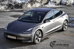 Tesla model 3 helfoliert med 3M Matt Dark Grey_-5
