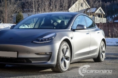 Tesla model 3 helfoliert med 3M Matt Dark Grey_-8