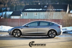 Tesla model 3 helfoliert med 3M Matt Dark Grey_-9
