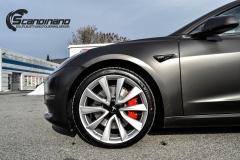 Tesla Model 3 helfoliert i fargen Matt Diamond Black pwf --15