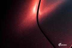 Tesla Model 3 helfoliert med Gloss Red Black fra KPMF-8