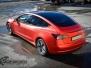 Tesla Model 3 helfoliert med Matt Anodized Red fra PWF