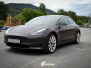 Tesla Model 3 helfoliert med Matt Diamond Black fra PWF