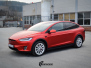Tesla model X Helfoliert i Anodized red 2.0 fra PWF