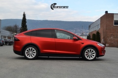 Tesla-model-X-Helfoliert-i-Anodized-red-2.0-fra-PWF-1